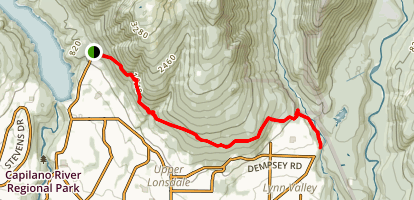Baden-Powell Trail Map