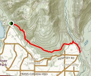Baden-Powell Trail: Cleveland Park to Lynn Valley Map