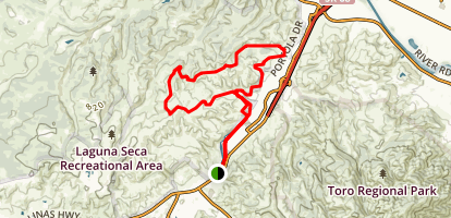 Oil Well Road Goat Trail Loop Map