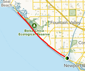 Huntington and Bolsa Chica State Beaches - Huntington Beach Trail Map