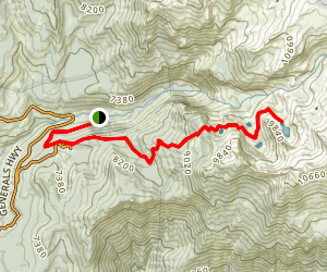 The Lakes Trail Map