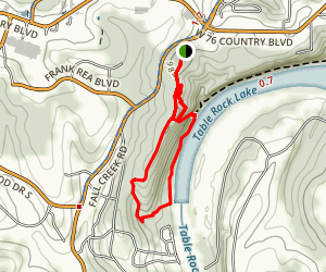 Lakeside Wilderness Hiking Area Map