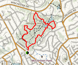 Whipple Hill Reserve Map