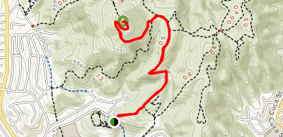 Nighthawk Trail to Black Mountain Summit Map