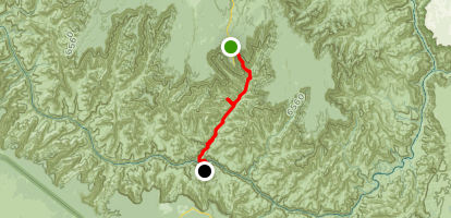 Phantom Ranch to Ribbon Falls on North Kaibab Trail Map