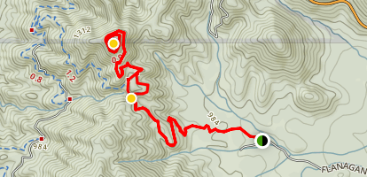 Flanagan and Chamise Peak Trail Map