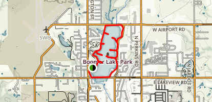 Boomer Lake (Kameoka Trail) Map