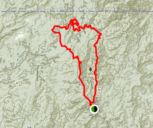 Cohutta Wilderness Loop Trail Map