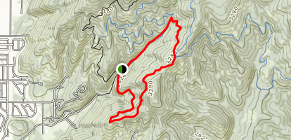 Canfield: Cave Trail Loop Map