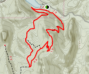 Cave Lake Overlook Trail Map