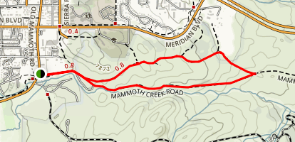 Mammoth Creek Road Trail Map