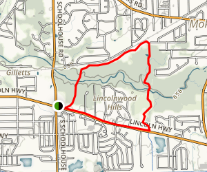 Hickory Creek Bikeway Trail Map