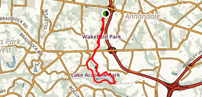 Wakefield Accontink Lake Loop Trail Map