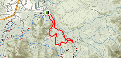 High on the Hog Trail Map