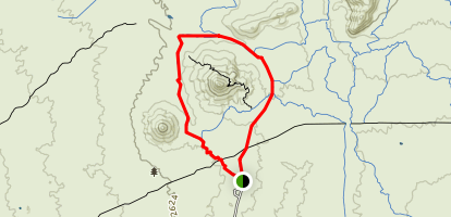 Brown Ranch Trail to Cone Mountain Trail Map