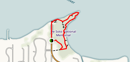 Desoto National Memorial Park Trail Map