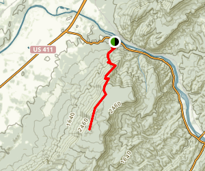 Oswald Dome Trail Map