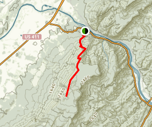 Oswald Dome Trail via Lowery Cove Trail Map