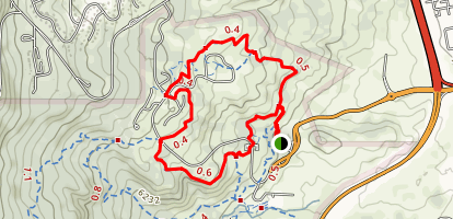 Soaring Kestral and Coyote Run Loop Trail Map