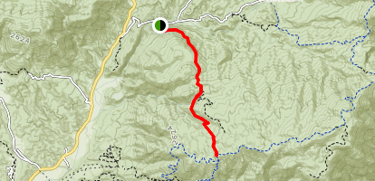 Oak Springs Trail (CLOSED) Map