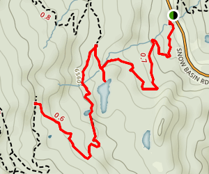 Green Pond Trail Map