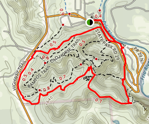 Garner East meets West Trails Map
