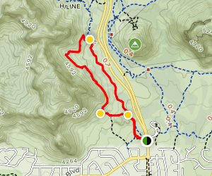 Slim Shady and Made in the Shade Loop Trail Map