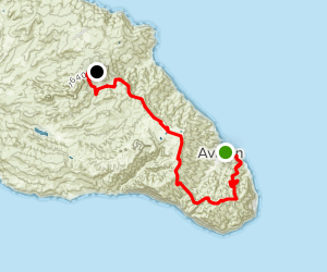Trans-Catalina Trail: From Avalon to Black Jack Camp Map
