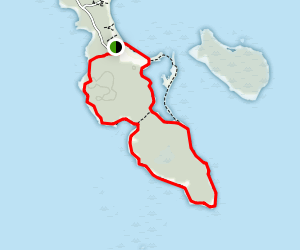 Bobs Bluff/Bull Beach, Headland & Spry Bay Trails Loop Map