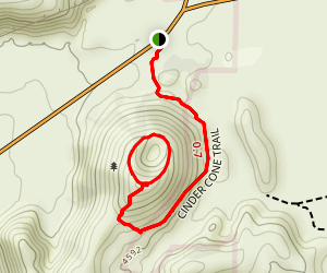 Cinder Cone Trail Map