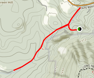 White Rocks Ice Bed Trail Map
