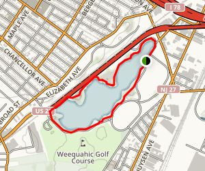 Weequahic Lake Trail Map