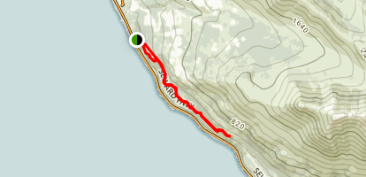 Turnagain Arm Trail Map