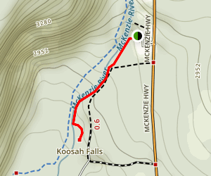 Koosah Falls Trail Map