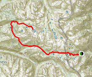 Onion Valley to Charlotte Lake Trail Map