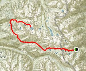 Onion Valley to Gardiner Lake Map
