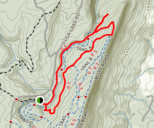 Lula Lake Land Trust Trail Map
