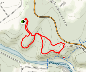 Alapocas Woods Trail Map