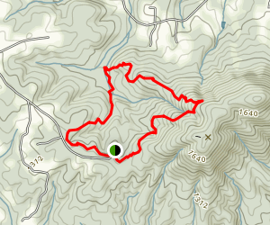 Bakers Mountain Trail Map