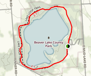 Beaver Lake Nature Center: Lake Loop Trail Map
