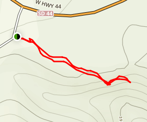 Falling Rock Trail Map