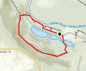 Flaming Geyser State Park Trail Map