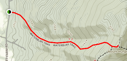 Mount Hunger Waterbury Trail Map