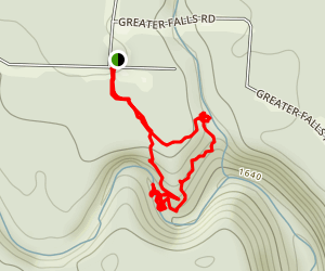 Greeter Falls Loop / Greeter Trail Map