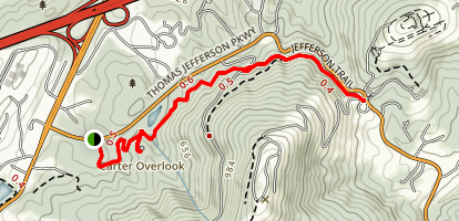 Saunders-Monticello Trail Map