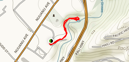 Alapena Pool and Kapena Falls Trail Map