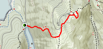 Cadillac Mountain West Face Trail Map