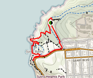 Cliff House Walk at Land's End Trail Map