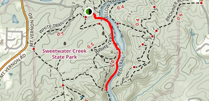 Sweetwater Creek Red Trail Map