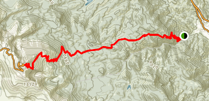 Barr Trail to Pikes Peak Map